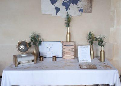 décoration de plan de table - une fleur une histoire